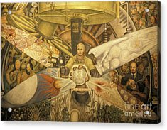 Diego Rivera Mural Mexico City Acrylic Print by John  Mitchell