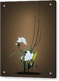 Digital Flower Arrangement Acrylic Print