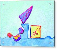 Digital Geometry Acrylic Print