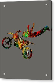 Dirt Bike Superman Collection Acrylic Print by Marvin Blaine