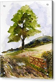 Distant Tor Acrylic Print by Sibby S