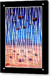 Distortion Acrylic Print by Atia  Sadiq