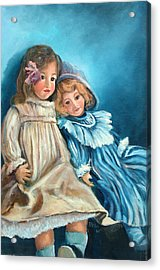 Dolls At Rest Acrylic Print by Sally Seago