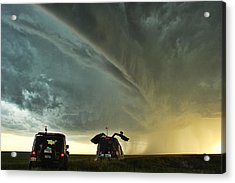 Dominating The Storm Acrylic Print by Ryan Crouse