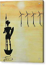 Don Quixote Acrylic Print by Edwin Alverio