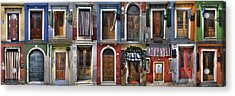 doors and windows of Burano - Venice Acrylic Print