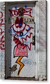 Doorway Wiiliamsburg Brooklyn Acrylic Print by Robert Ullmann