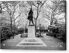 doughboy statue in abingdon square park greenwich village New York City USA Acrylic Print