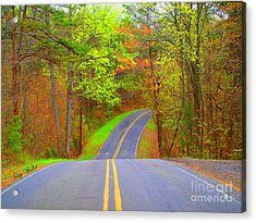 Down A Country Road Acrylic Print