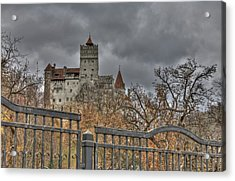 Acrylic Print featuring the photograph Dracula's Castle Transilvania In Hdr by Matthew Bamberg