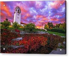 Dramatic Autumn Sunrise At Boise Depot In Boise Idaho Acrylic Print by Vishwanath Bhat