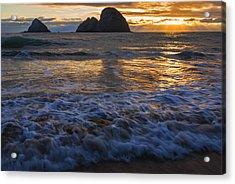 Dramatic Sunset Oregon Coast Usa Acrylic Print by Vishwanath Bhat
