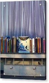 Draw The Curtains Acrylic Print by Jez C Self