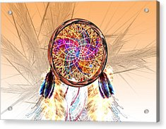 Dream Catcher Acrylic Print by Carol and Mike Werner