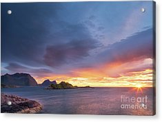 Acrylic Print featuring the photograph Dreamy Sunset by Maciej Markiewicz