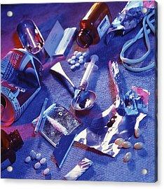 Drug Abuse Acrylic Print by Tek Image