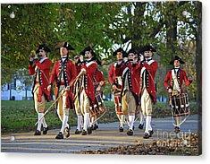 Drum And Fife On Palace Green, Colonial Williamsburg Virginia Acrylic Print by Tim Rudziensky
