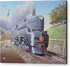 Acrylic Print featuring the painting Duplex Express by Mike Jeffries