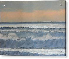 Dusk At High Tide Acrylic Print by Harvey Rogosin