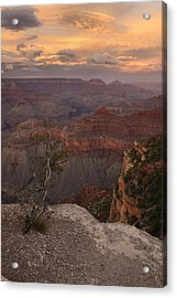 Acrylic Print featuring the photograph Dusk From Mather Point by Stephen  Vecchiotti