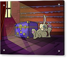 Dusty Bunny Acrylic Print by Andy Bauer
