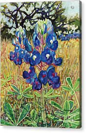 Acrylic Print featuring the painting Early Bloomers by Hailey E Herrera