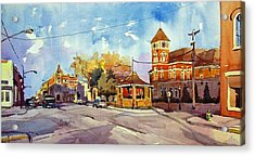 Early Morning Downtown Fairfield Acrylic Print by Spencer Meagher