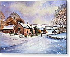 Early Morning Snow Acrylic Print by Andrew Read