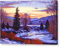 Early Spring Daybreak Acrylic Print by David Lloyd Glover