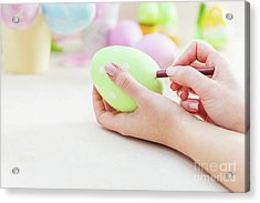 Easter Egg Artistic Painting. Acrylic Print