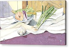 Eat What Is Good Acrylic Print by Christine Belt