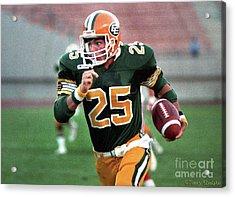 Edmonton Eskimos Football - Tom Richards - 1988 Acrylic Print