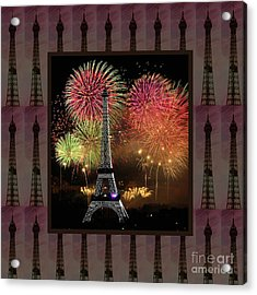 Effel Tower Paris France Landmark Photography Towels Pillows Curtains Tote Bags Acrylic Print