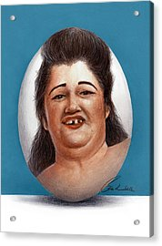 Egg Lady Acrylic Print