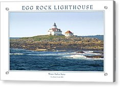Egg Rock Island Lighthouse Acrylic Print by Peter Muzyka