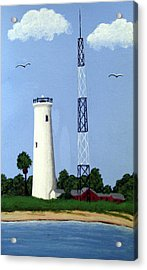 Egmont Key Lighthouse Acrylic Print by Frederic Kohli