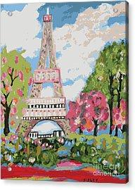 Eiffel Tower Dream Acrylic Print by Karen Fields