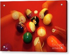 Eight Ball Acrylic Print by Skip Willits
