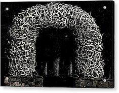 Elk Antlers Gate Jackson Hole Wy Acrylic Print by Christine Till