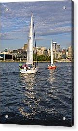 Elliott Bay Seattle Acrylic Print by Tom Dowd