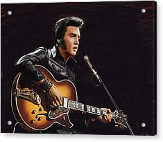 Elvis Presley Acrylic Print by Dominique Amendola