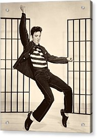Elvis Presley In Jailhouse Rock 1957 Acrylic Print by Mountain Dreams