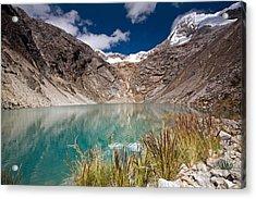 Emerald Green Mountain Lake At 4500m Acrylic Print
