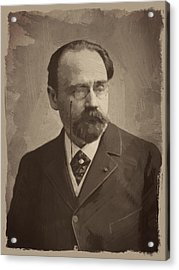 Emile Zola Acrylic Print by Afterdarkness