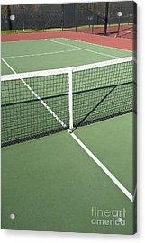 Empty Tennis Court Acrylic Print by Thom Gourley/Flatbread Images, LLC