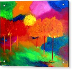 Enchanted Forest Acrylic Print by Maritza Bermudez