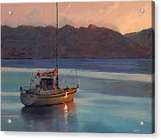 End Of Day Acrylic Print by Robert Bissett
