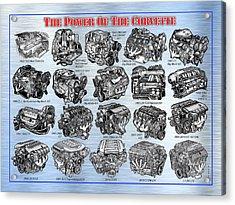 Eng-19_corvette-engines Acrylic Print