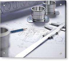 Engineering Equipment Acrylic Print by Tek Image