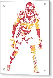 Eric Berry Kansas City Chiefs Pixel Art Acrylic Print
